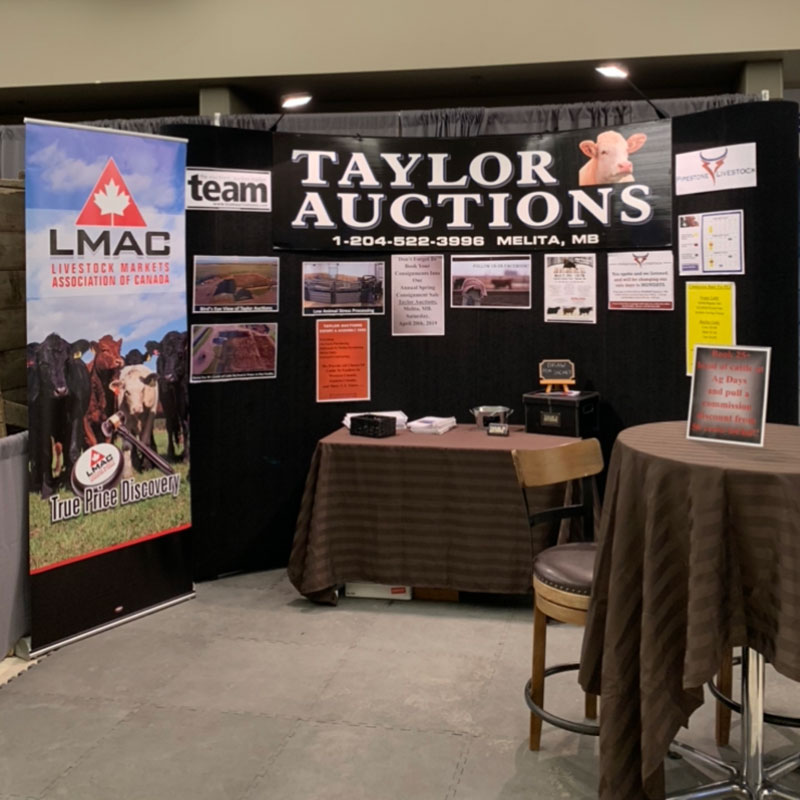 Trade show display for Taylor Auction Services